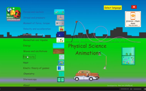 Physical Science apps with Science animations